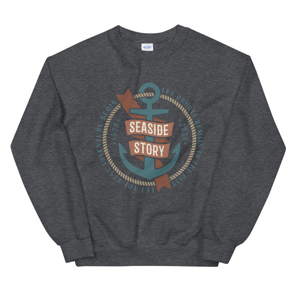 Let the Adventure Begin Seaside Story Crewneck Sweatshirt