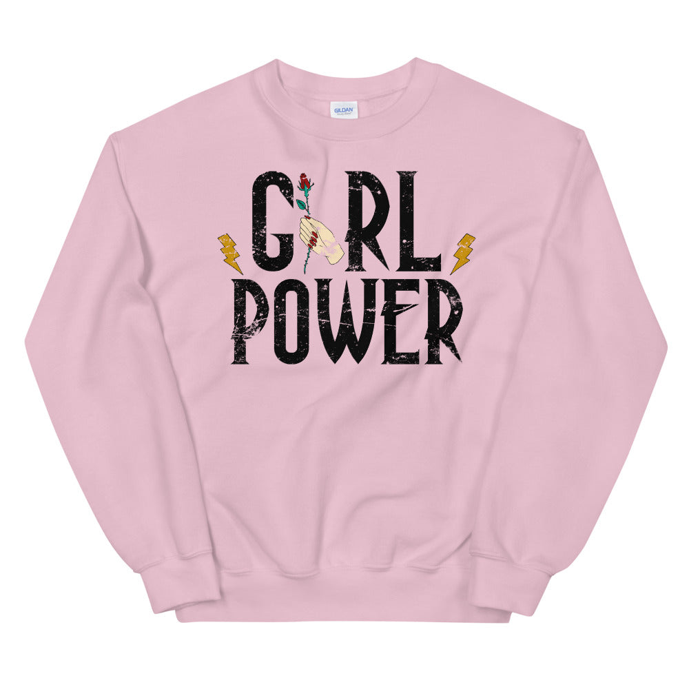 Vintage Girl Power Graphic Sweatshirt for Women