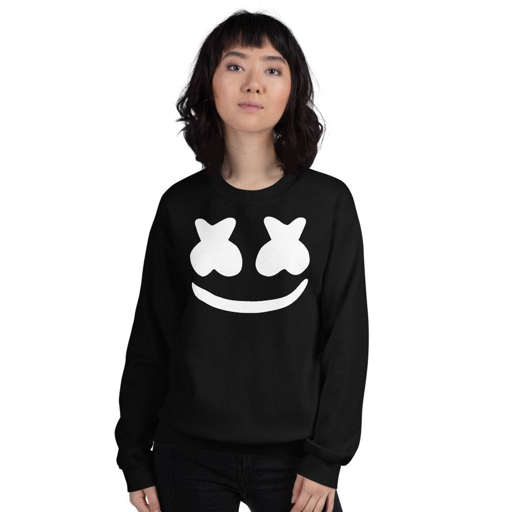 Dj Marshmello Sweatshirt - Black Marshmello Sweatshirt for Women