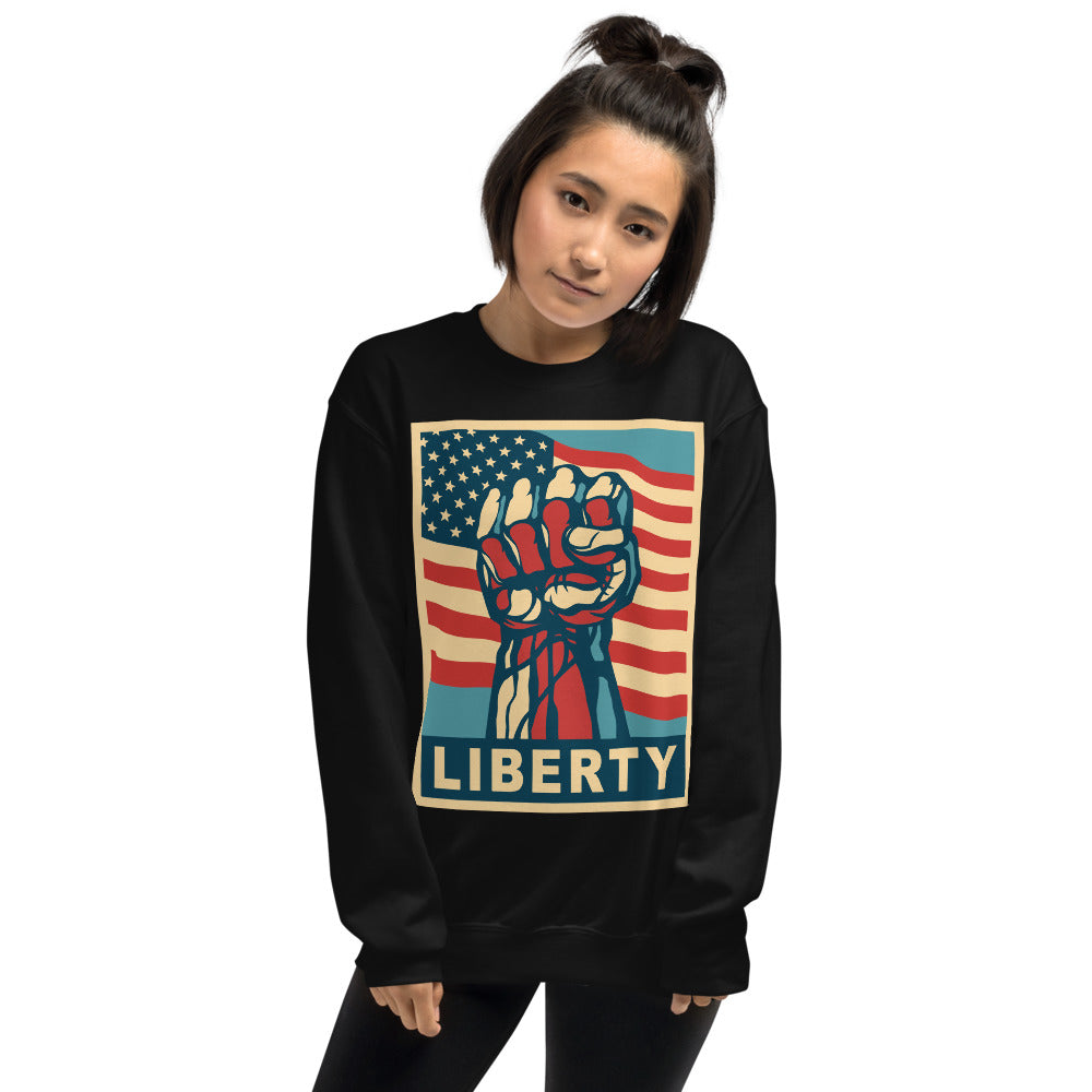 Liberty Crewneck Sweatshirt for Activist Women
