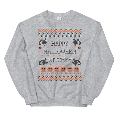 Happy Halloween Witches Ugly Crewneck Sweatshirt