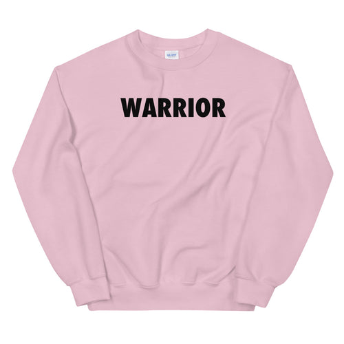 Warrior Sweatshirt | Pink One word Sweatshirt for Women