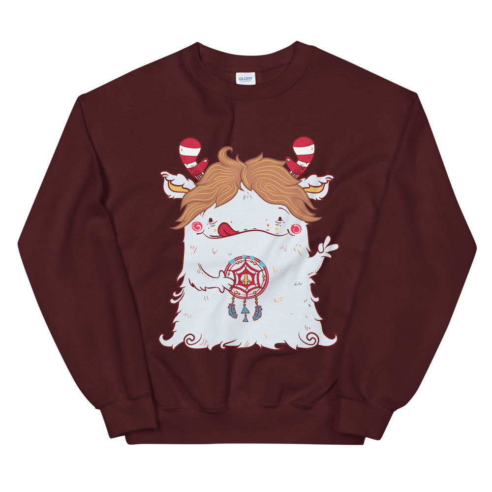 Peace Dream Catcher Monster Crewneck Sweatshirt for Women