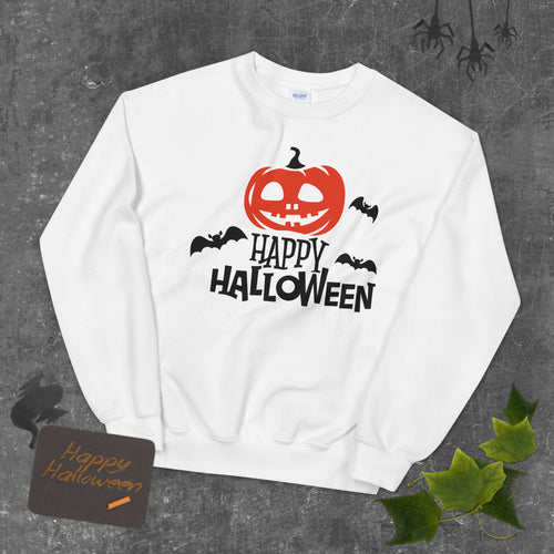 Happy Halloween Crewneck Sweatshirt for Women