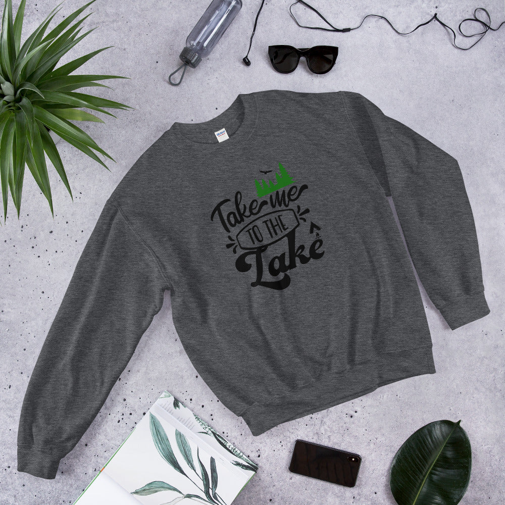 Take Me to The Lake Crewneck Sweatshirt