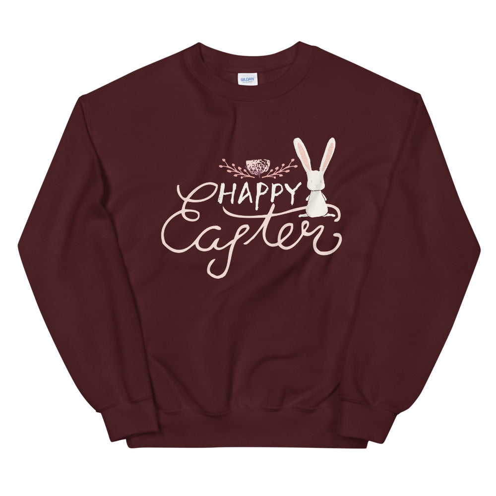 Happy Easter Cute Bunny Crewneck Sweatshirt for Women