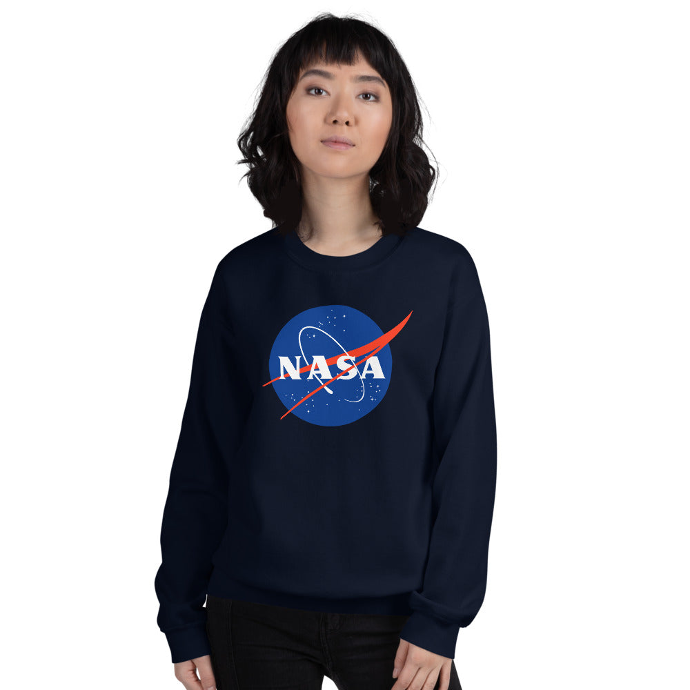 NASA Sweatshirt | Navy Crewneck Nasa Logo Sweatshirt for Women and Girls
