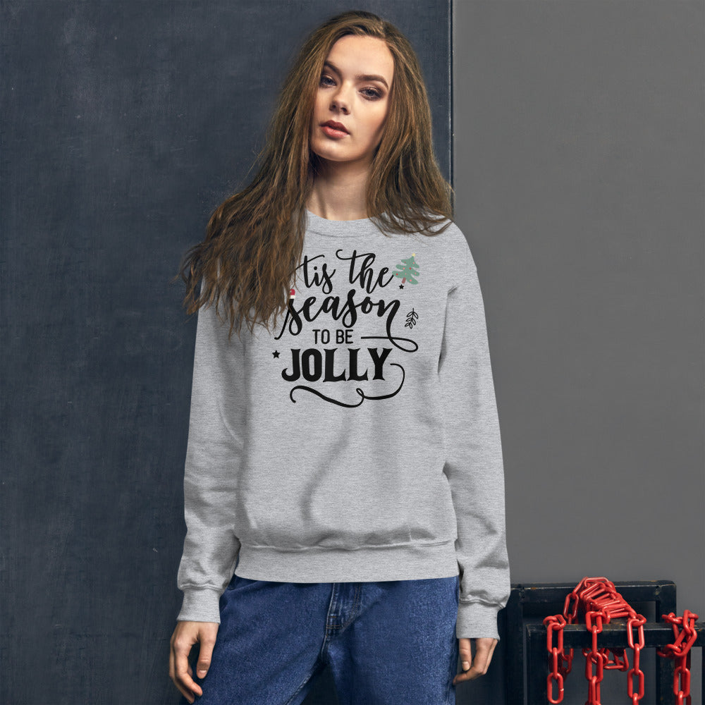 Tis The Season To Be Jolly Lyrics Sweatshirt for Women