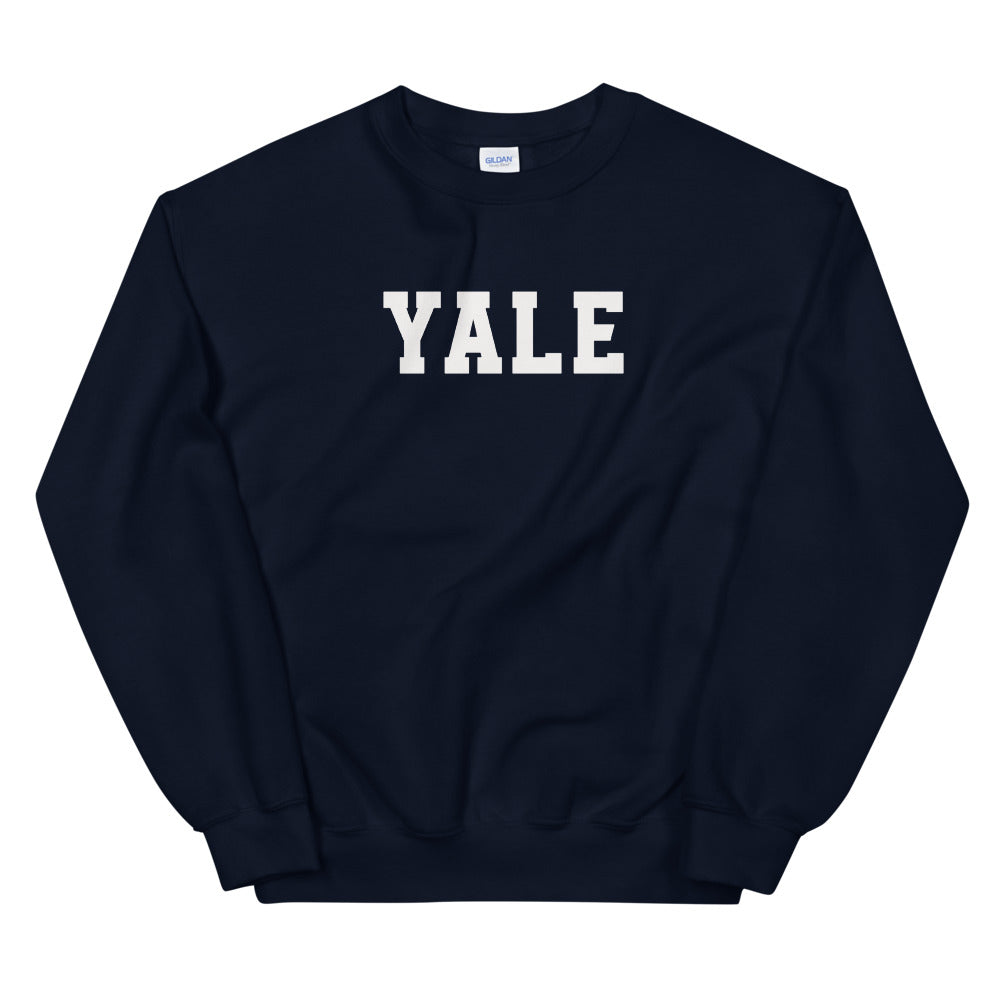 Yale Sweatshirt | Navy Yale Crewneck Sweatshirt for Women