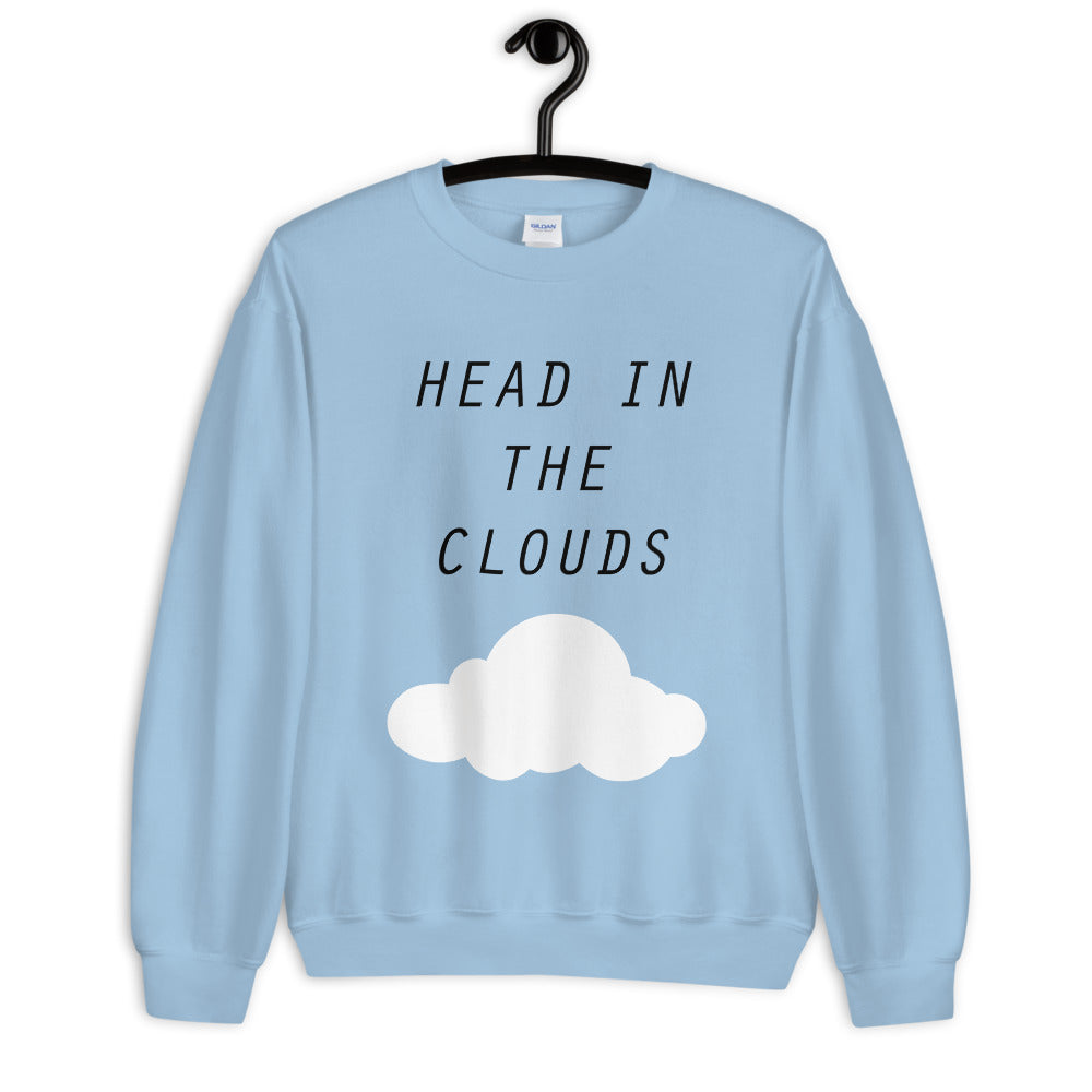 Head in The Clouds Crewneck Sweatshirt for Women
