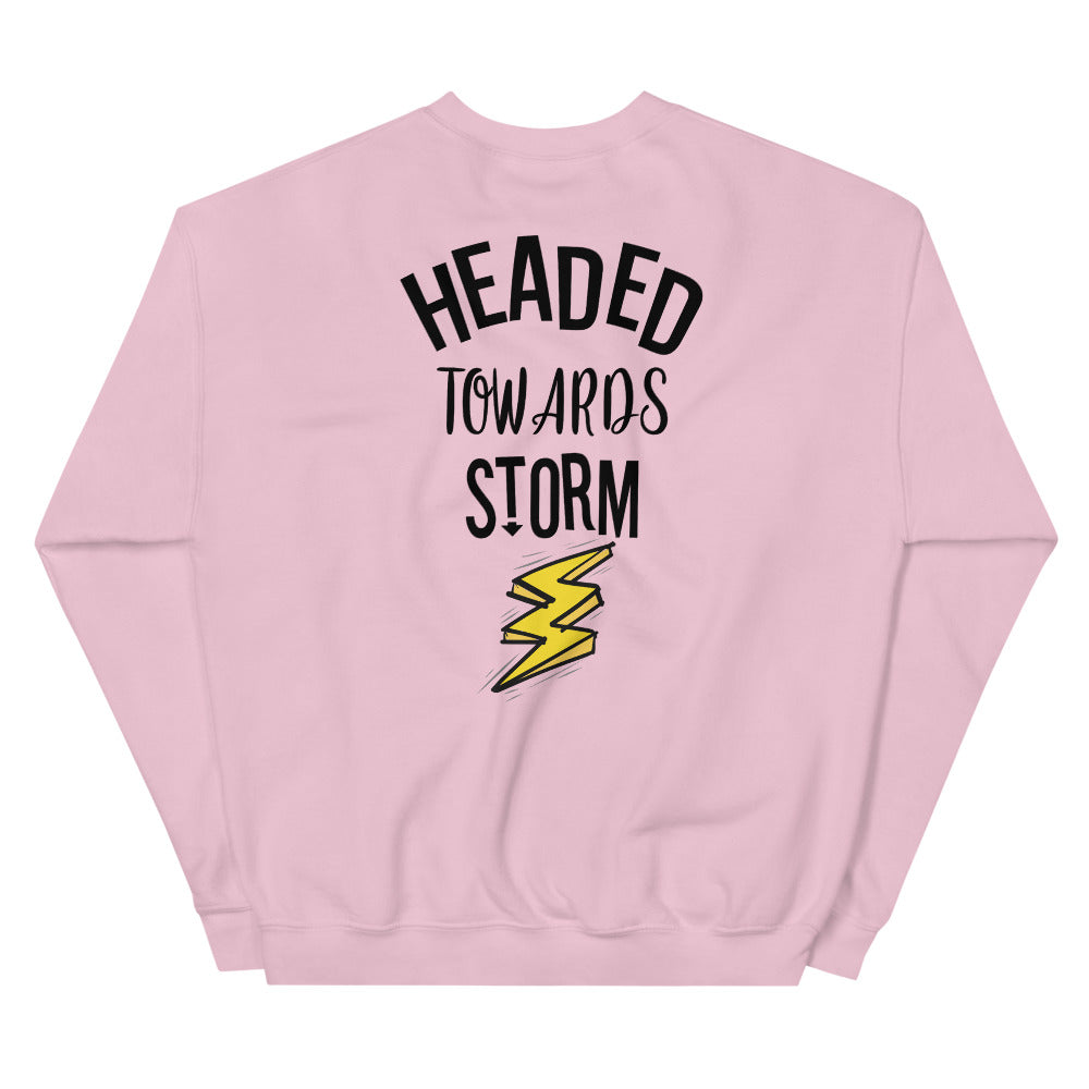Headed Towards Storm Sweatshirt in Pink for Women