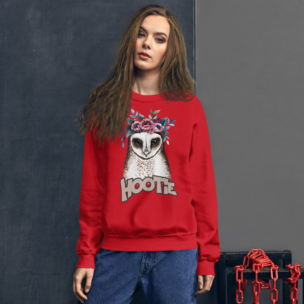 Hootie Sweatshirt | Red Owl Hootie Sweatshirt for Women