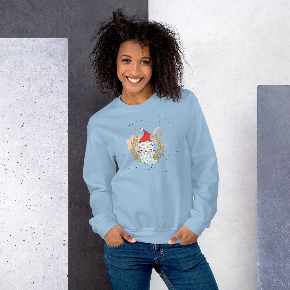 The Santa Claus Face Christmas Crewneck Sweatshirt