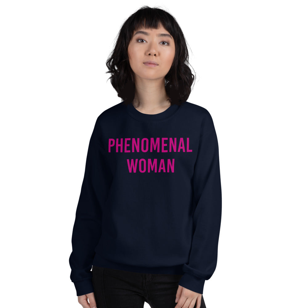 Phenomenal Woman Sweatshirt - Navy Empowerment Sweatshirt for Women