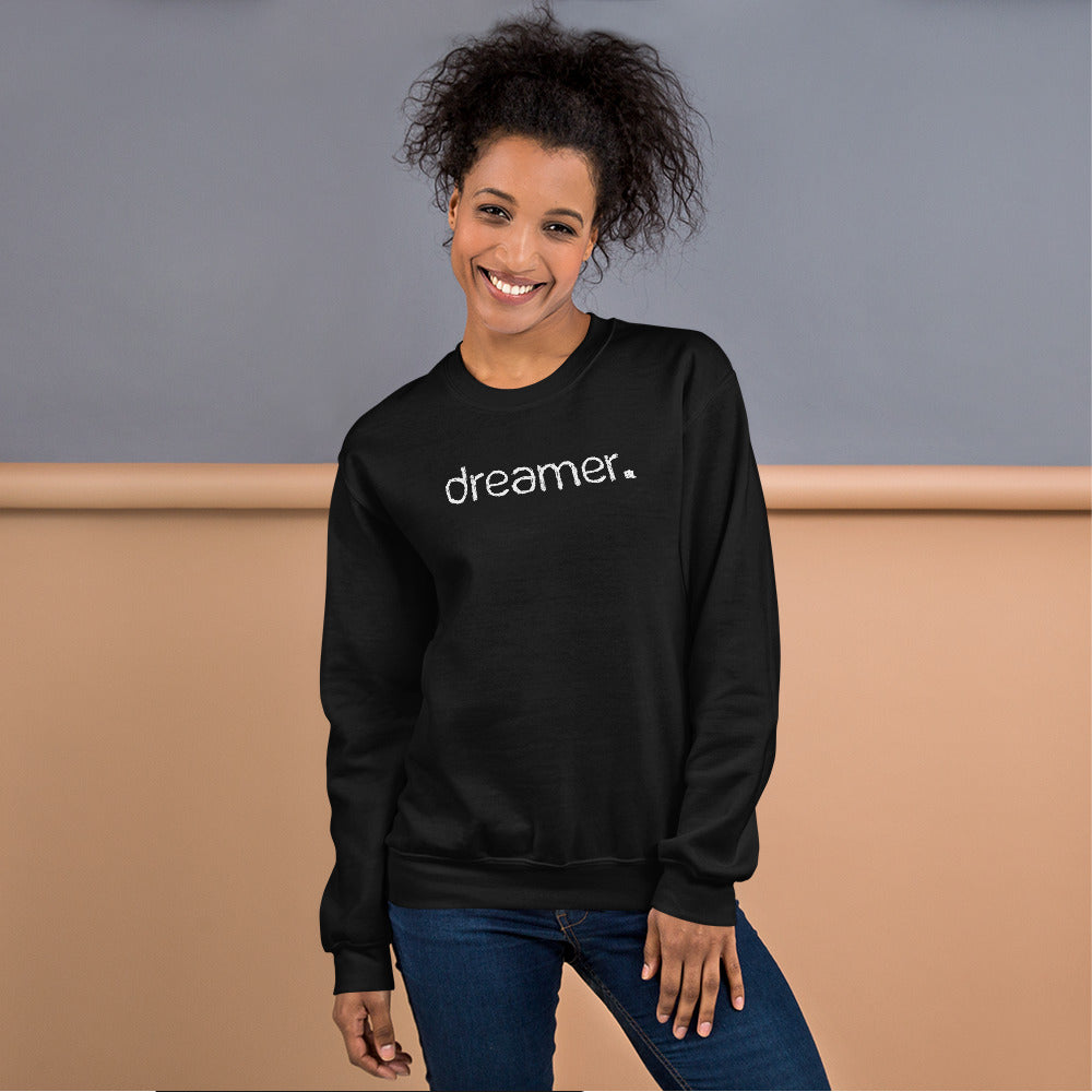 Dreamer Sweatshirt | Black One Word Dreamer Sweatshirt for Women