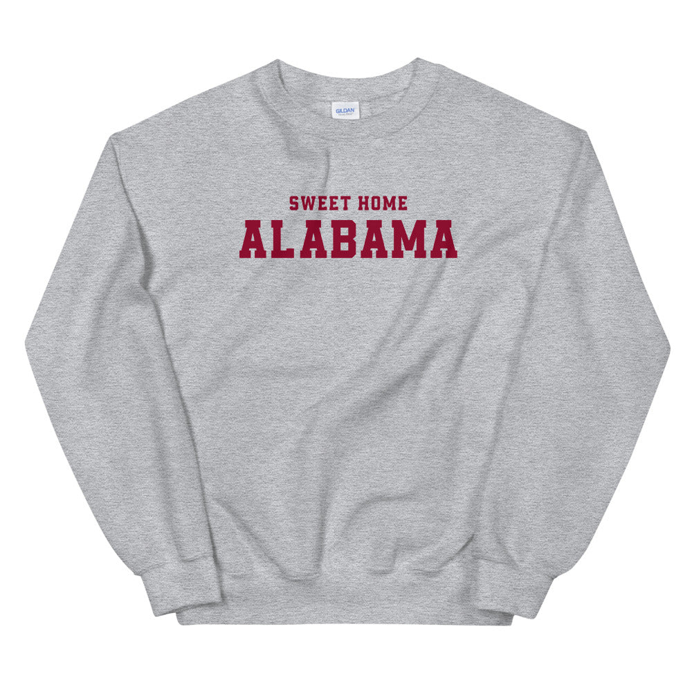Sweet Home Alabama Sweatshirt | Grey Alabama State Sweatshirt for Women
