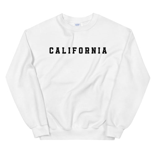 White California Sweatshirt Womens Pullover Crew Neck