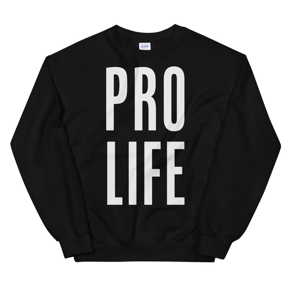 Pro Life Sweatshirt | Black Pro Life Sweatshirt for Women