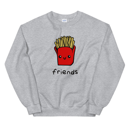 Friends Sweatshirt | Grey Crewneck Friends Sweatshirt for Women