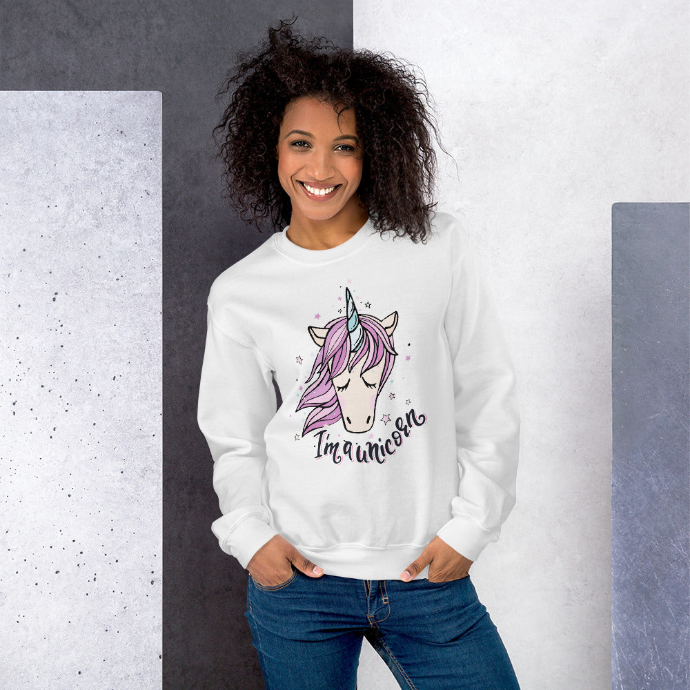 I Am a Unicorn Sweatshirt | Cute Magical Unicorn Sweatshirt for Girls