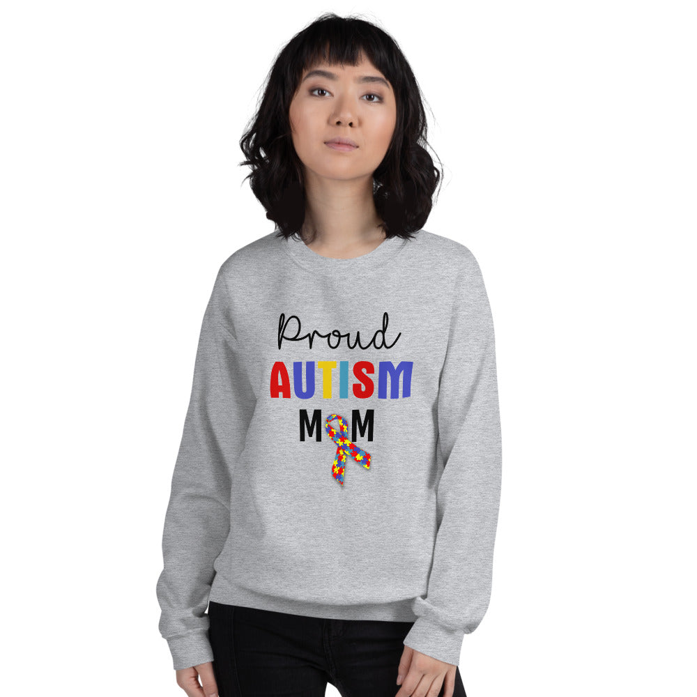 Proud Autism Mom Sweatshirt | Grey Proud Autism Mom Sweatshirt