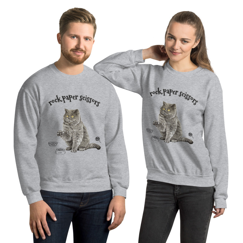 Rock Paper Scissors Crewneck Sweatshirt for Women