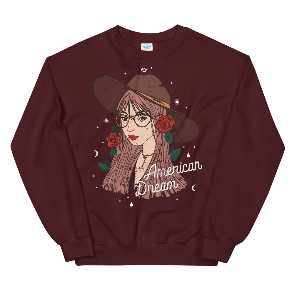American Dream Cowgirl Crewneck Sweatshirt for Women