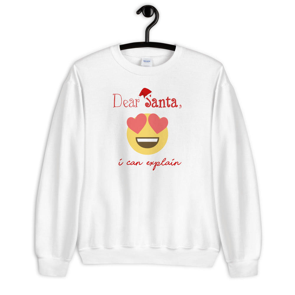 Dear Santa I can Explain Crewneck Sweatshirt for Women