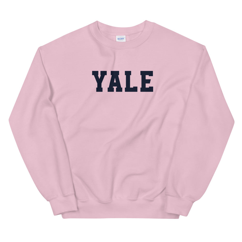 Yale Sweatshirt | Pink Yale Crewneck Sweatshirt for Women