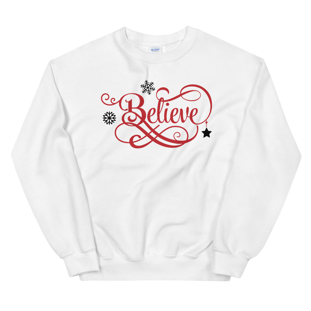 Believe Sweatshirt | Believe Christmas Crewneck for Women