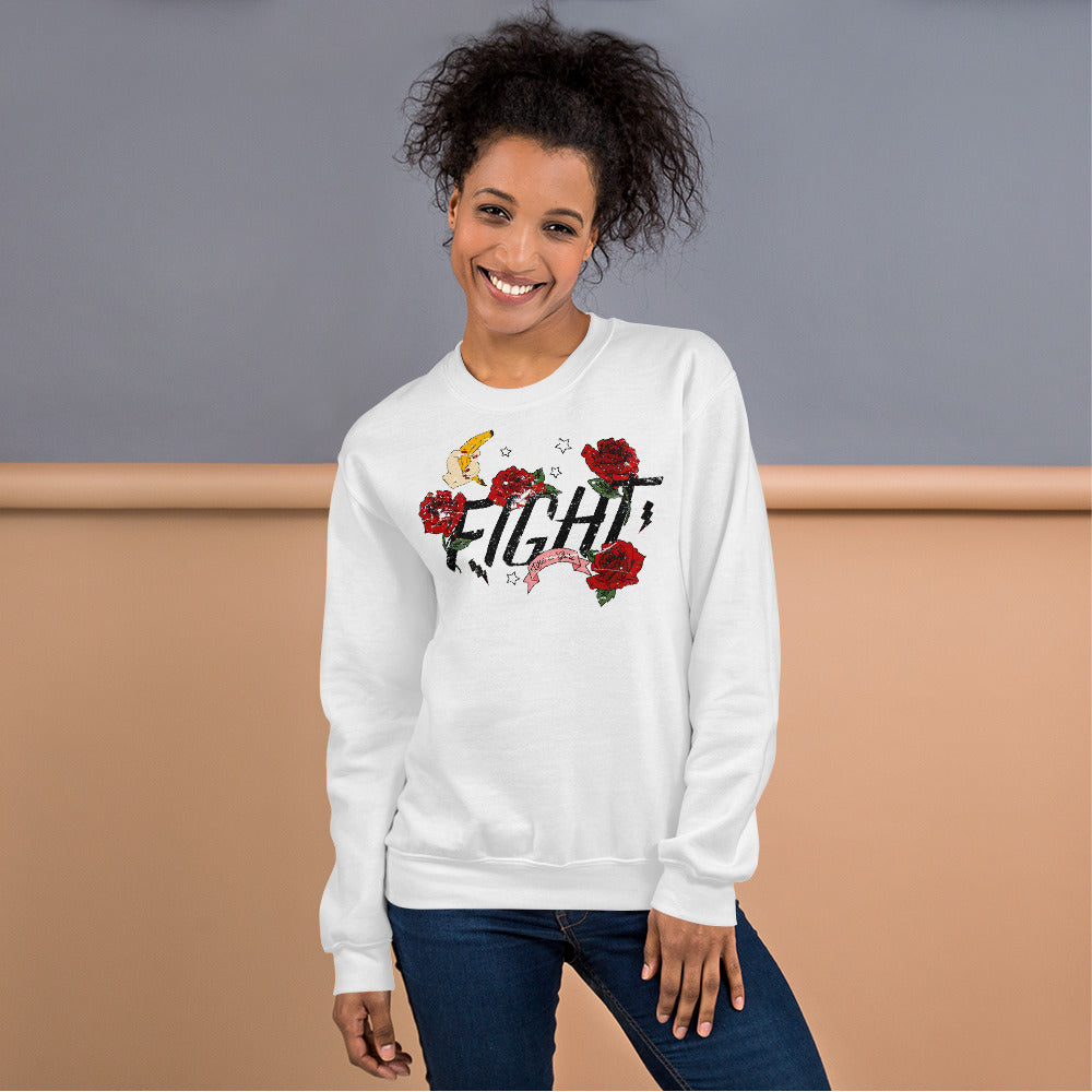 Fight Like a Girl Sweatshirt | Feminists Message Sweatshirt for Women