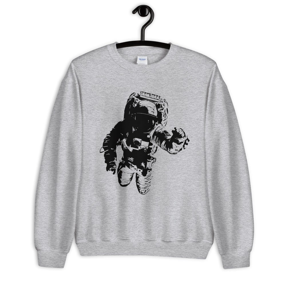 Astronaut in Space, Spaceshot Crewneck Sweatshirt for Women