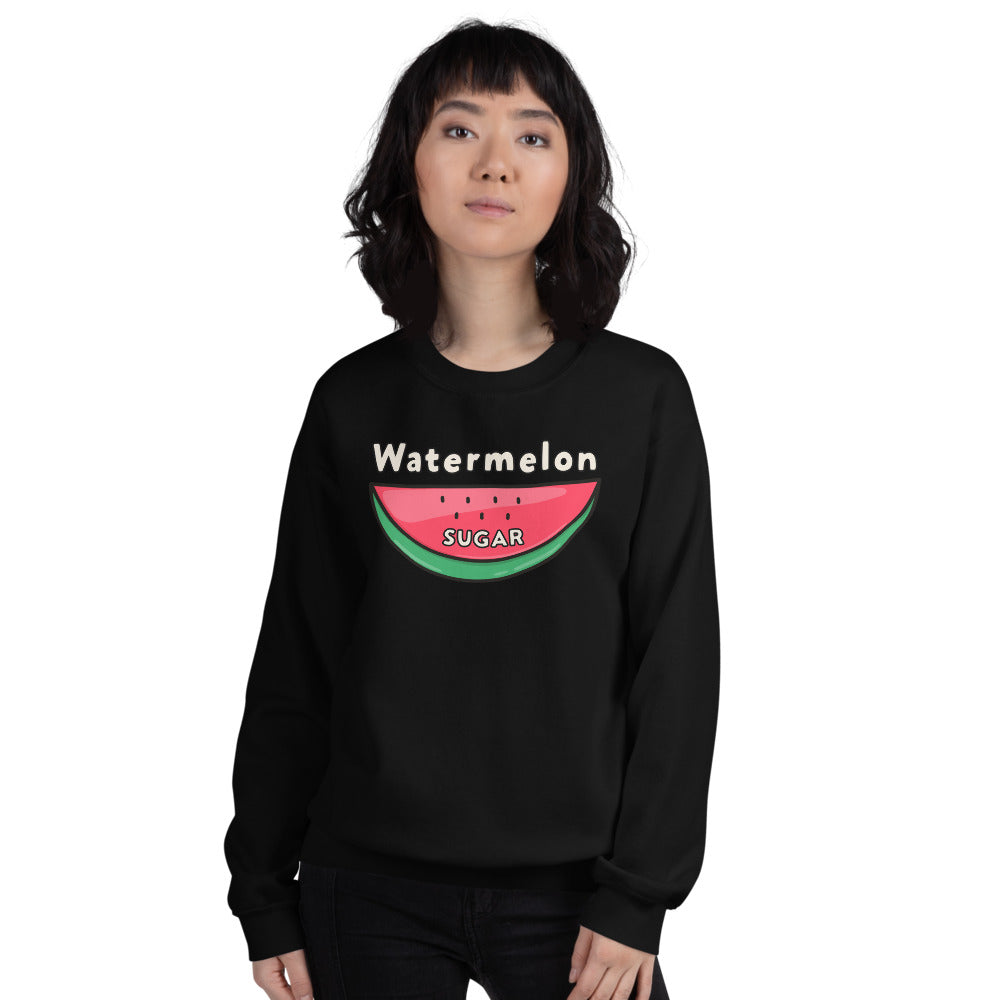 Watermelon Sugar Sweatshirt - Black Watermelon Sugar Sweatshirt for Women $29.00