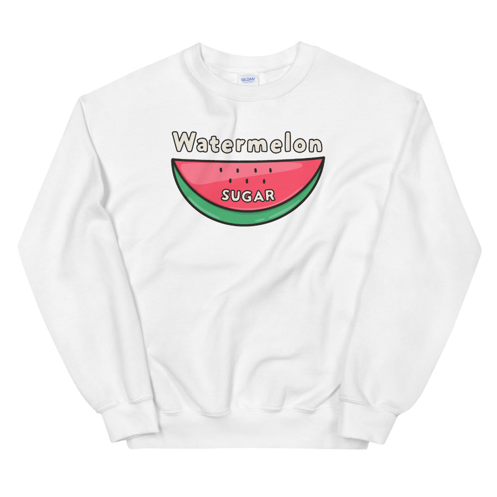 Watermelon Sugar Sweatshirt - White Watermelon Sugar Sweatshirt for Women