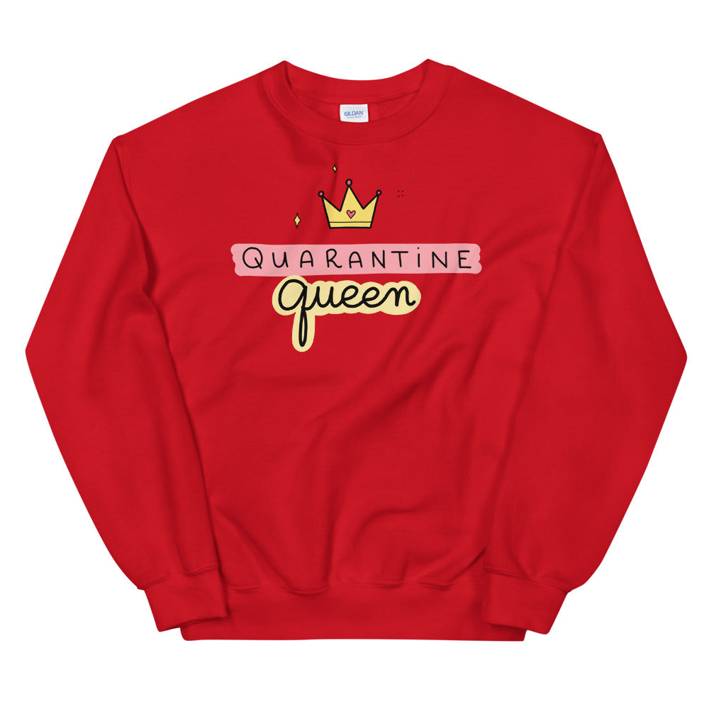 Quarantine Queen Sweatshirt | Red Queen Sweatshirt for Women
