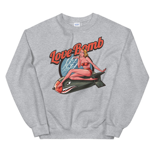 Love Bomb Sweatshirt | Grey Vintage Love Bomb Sweatshirt