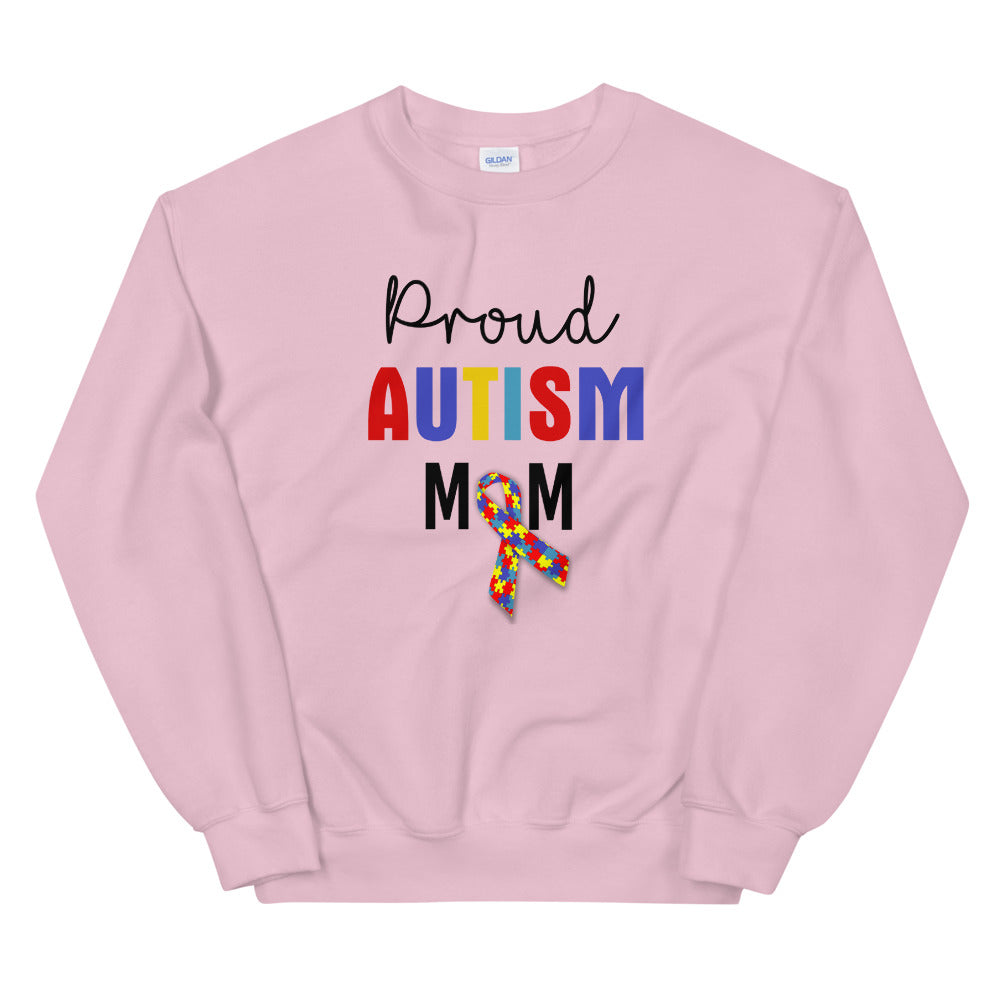 Proud Autism Mom Sweatshirt | Pink Proud Autism Mom Sweatshirt