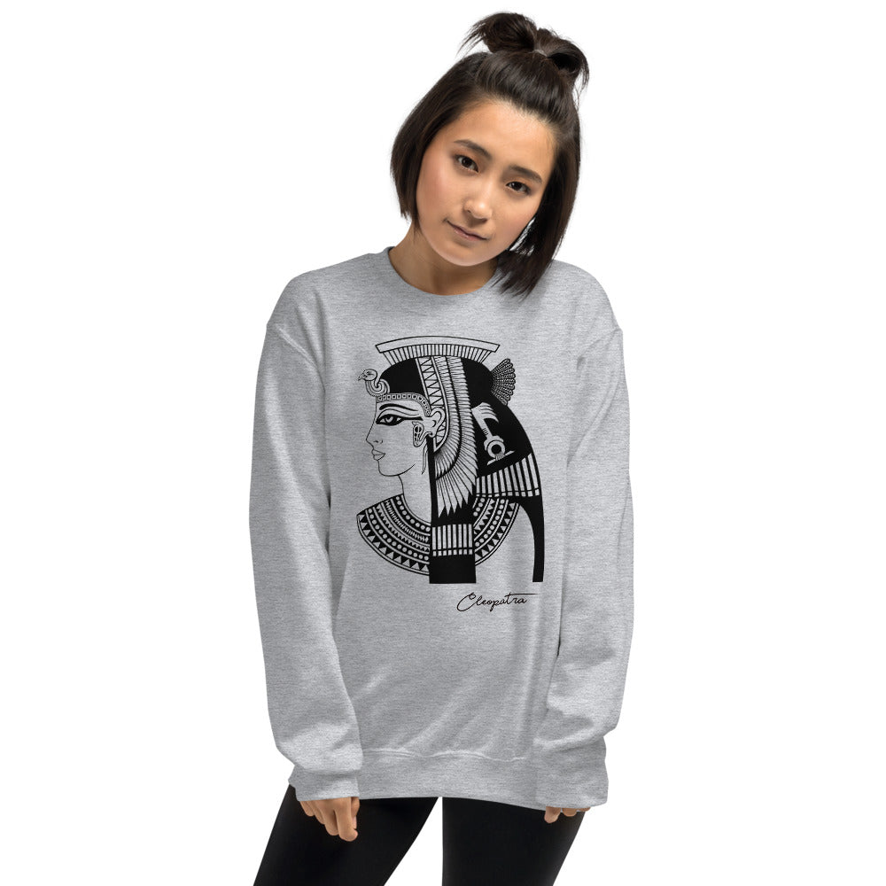 Cleopatra Egyptian Goddess Sweatshirt | Grey Cleopatra Sweatshirt