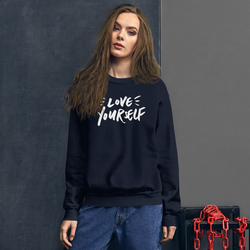 Love Yourself Sweatshirt | Navy Love Yourself for Women