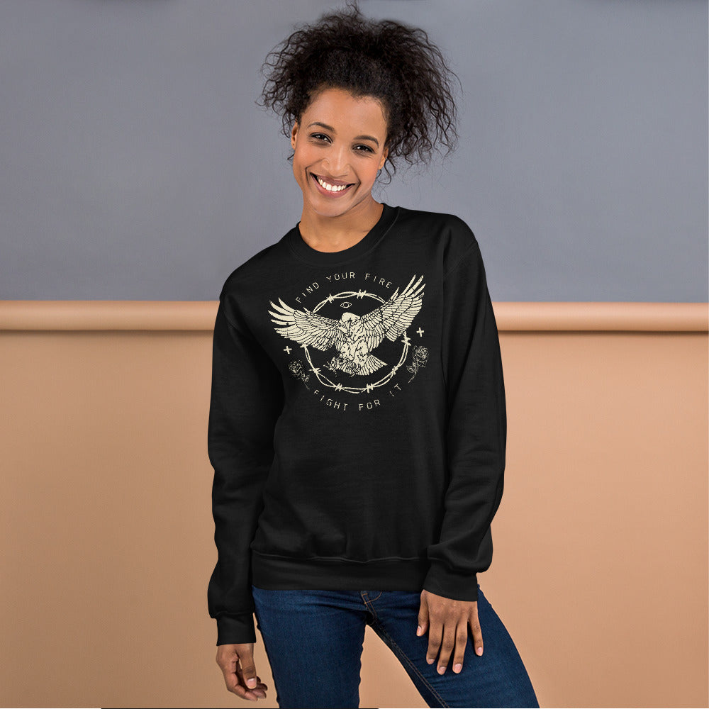 Find Your Fire Sweatshirt | Fight For It Sweatshirt for Girl