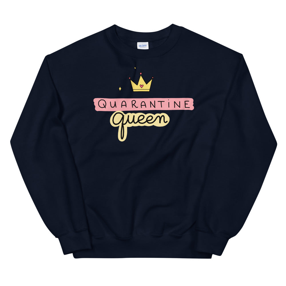 Quarantine Queen Sweatshirt | Navy Queen Sweatshirt for Women