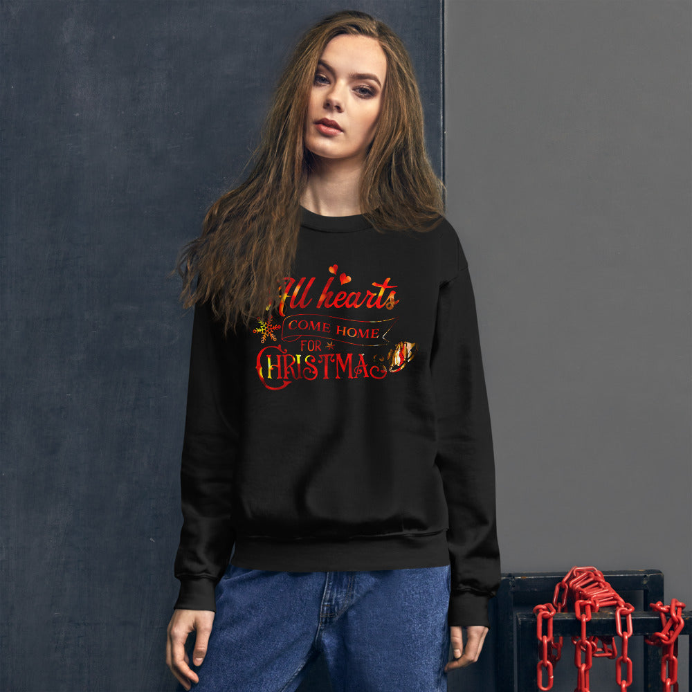 All Hearts Come Home For Christmas Sweatshirt for Women