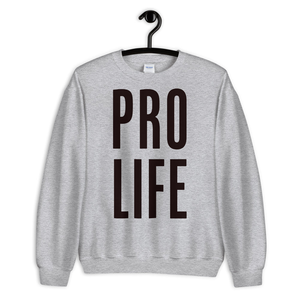 Pro Life Sweatshirt | Grey Pro Life Sweatshirt for Women