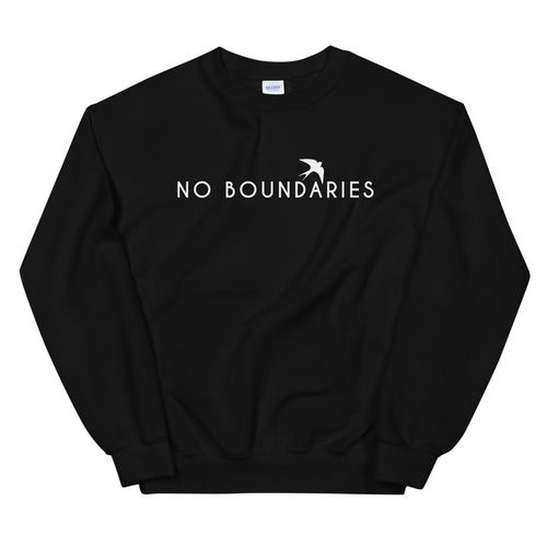 No Boundaries Sweatshirt | Black Motivational Crew Neck Sweatshirt