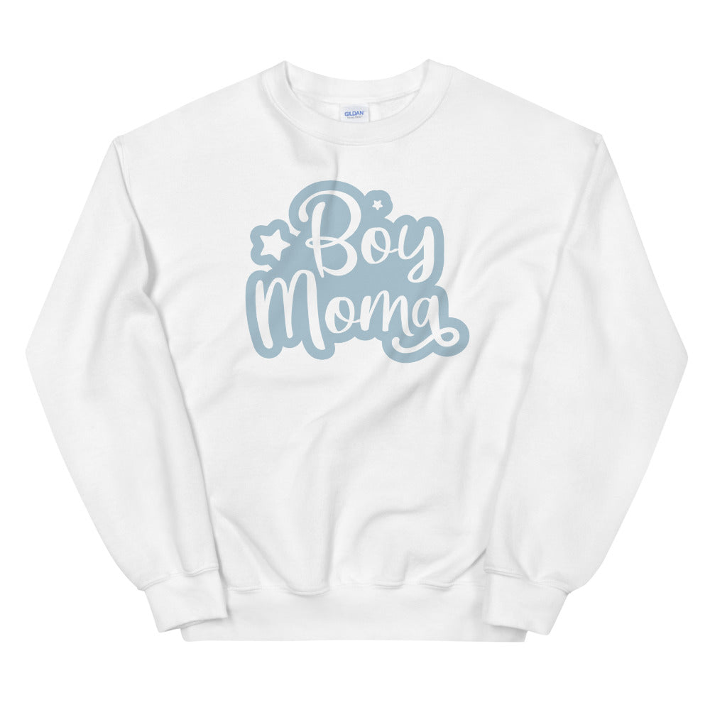 Boy Mom sweatshirt Sweatshirt in White Color for Women