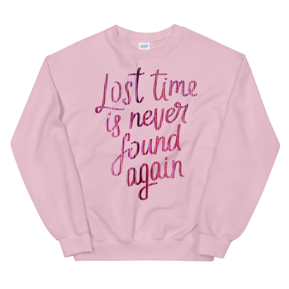 Lost Time is Never Found Again Crewneck Sweatshirt - Benjamin Franklin