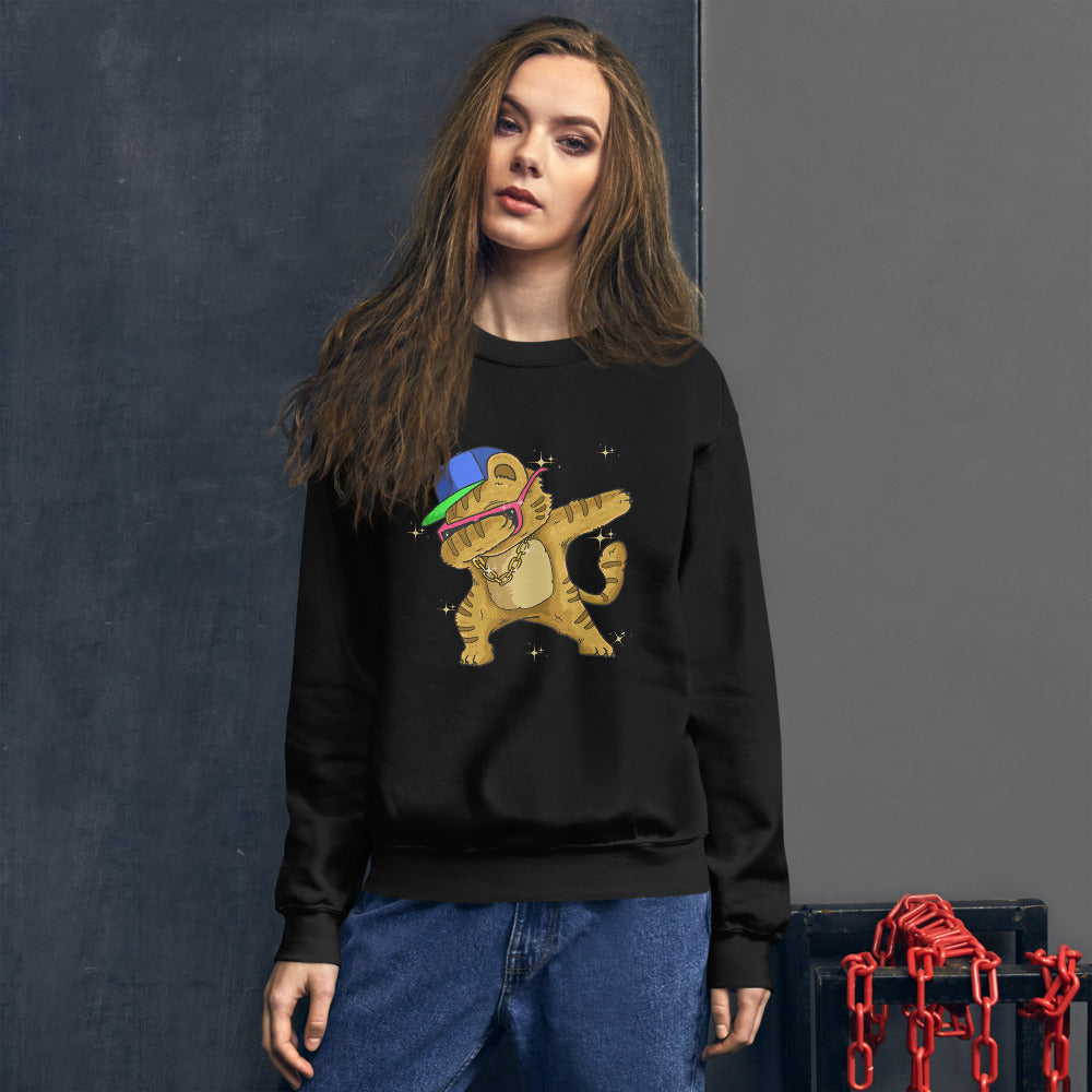 Dab Cat Sweatshirt | Funny Dabbing Kitty Cat Crewneck