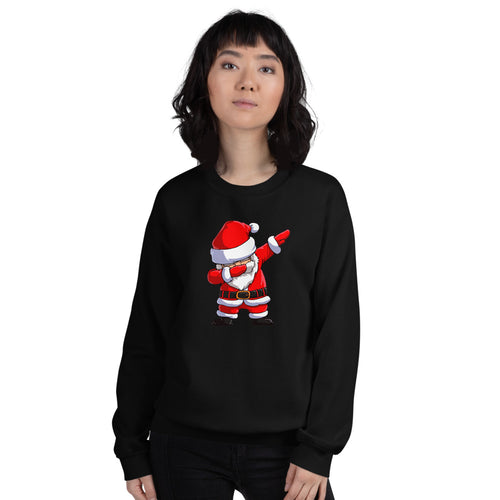 Black Dab Santa Pullover Crewneck Sweatshirt for Women