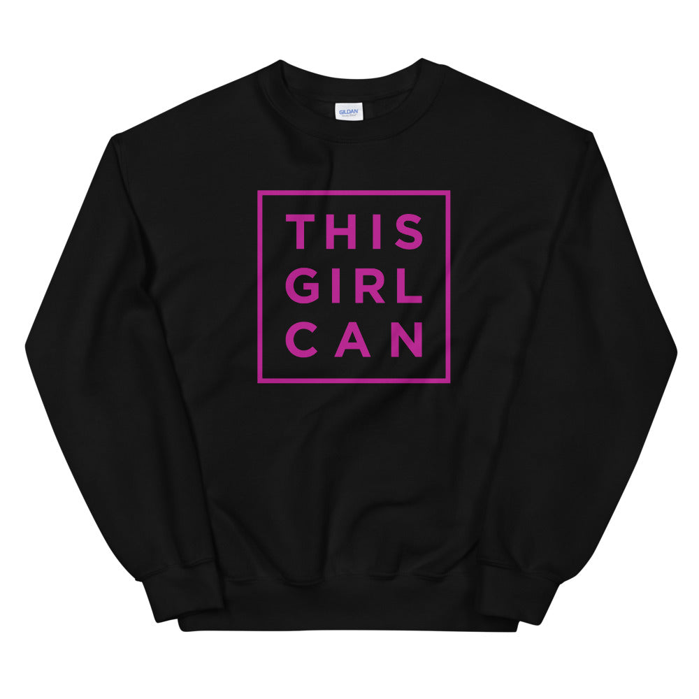 This Girl Can Sweatshirt | Motivational Quote Crewneck for Women