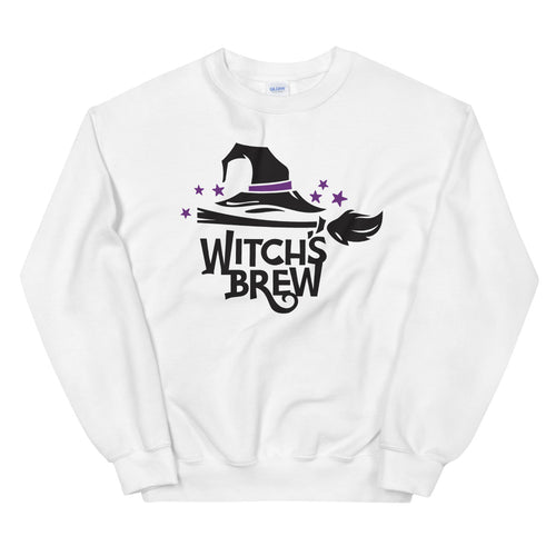 Witch's Brew Halloween Crewneck Sweatshirt for Women